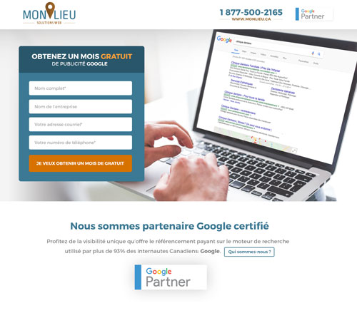 Conception de landingpage