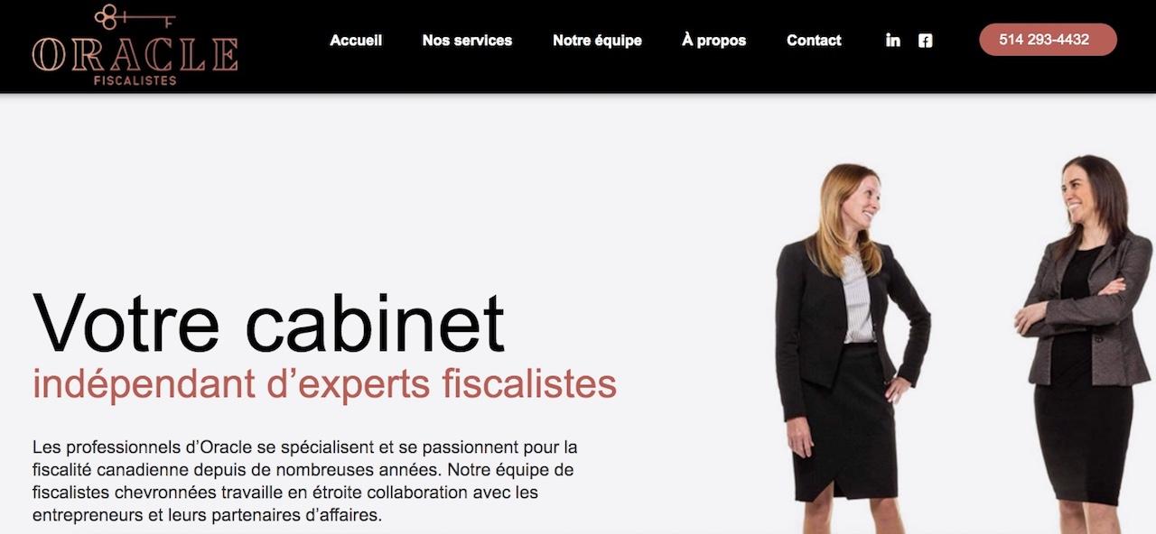 Réalisation du site web Oracle Fiscalistes