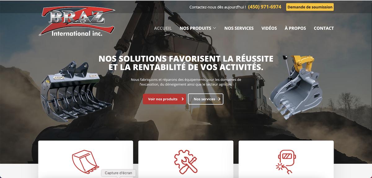 Conception du site web Braz international